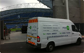 CCTV Drain Survey Brighton and Hove Amex Staduim